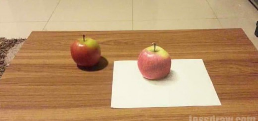 How To Draw 3D Apple