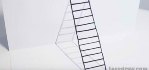 how to draw ladder 3d