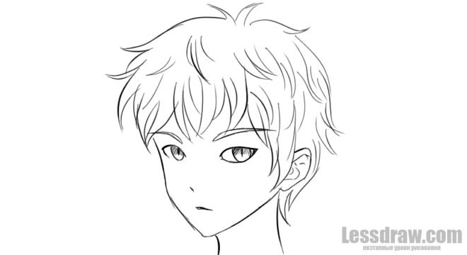 anime boy drawing