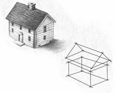 how to draw home 3d