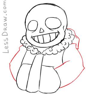 How To Draw Sans Undertale Step By Step Lessdraw
