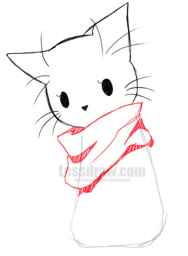 How To Draw Anime Cat Easy Lessdraw