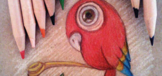 How To Draw Parrot with pencils