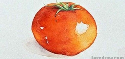 How to Draw a Tomato (Watercolor)