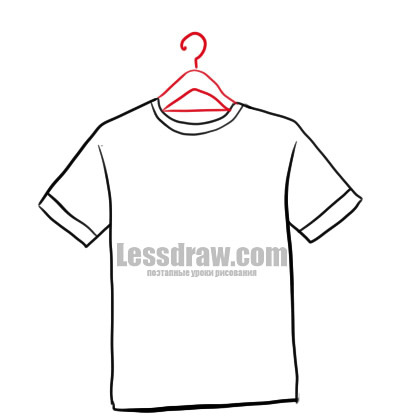How to Draw T-shirt Easy | Lessdraw