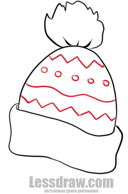 How To Draw A Winter Hat Lessdraw