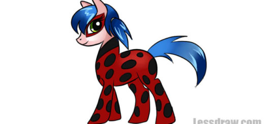 How to Draw Pony Lady Bug