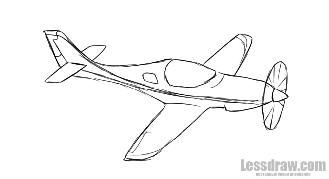 How To Draw A War Plane Lessdraw
